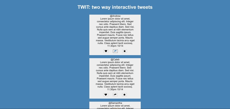 TWIT - Two Way Interactive Tweets – screenshot 1