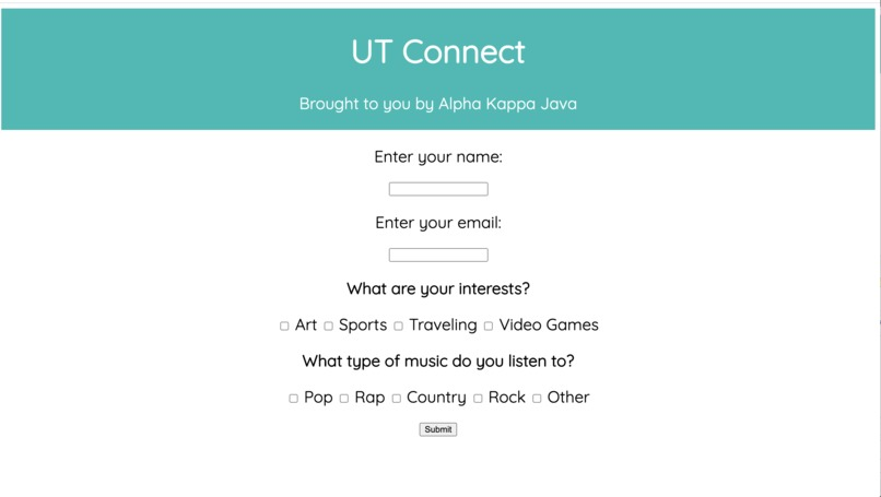 UT Connect – screenshot 1
