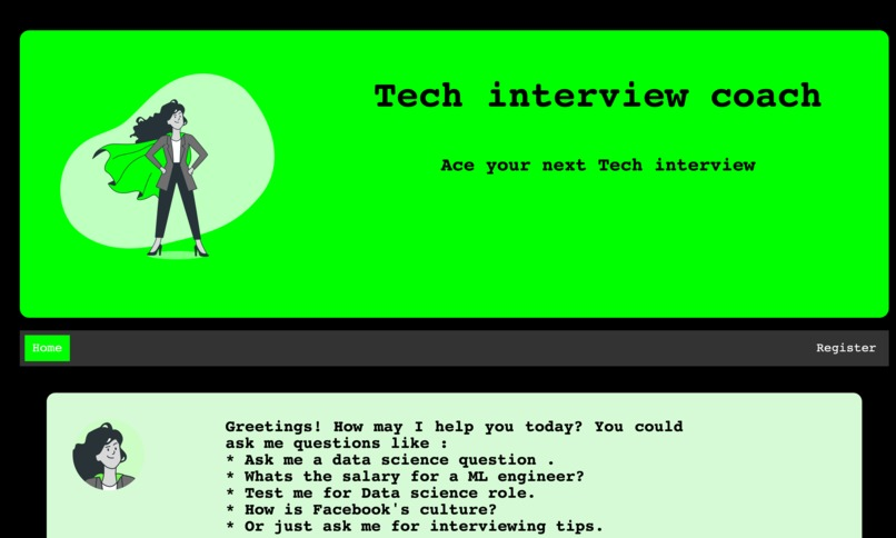 Wit.ai based Tech interview coach – screenshot 4