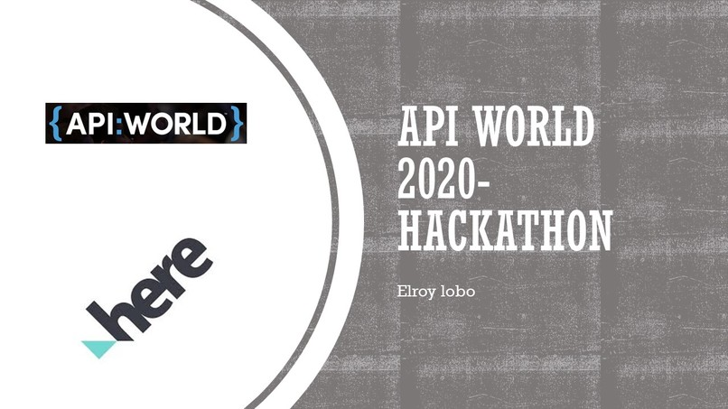 API:World 2020 Hackathon – screenshot 1