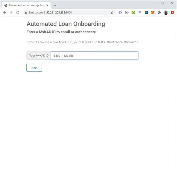 Automated loan onboarding – screenshot 2