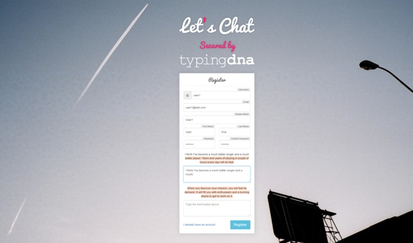 Let's Chat Secured by TypingDNA  – screenshot 2