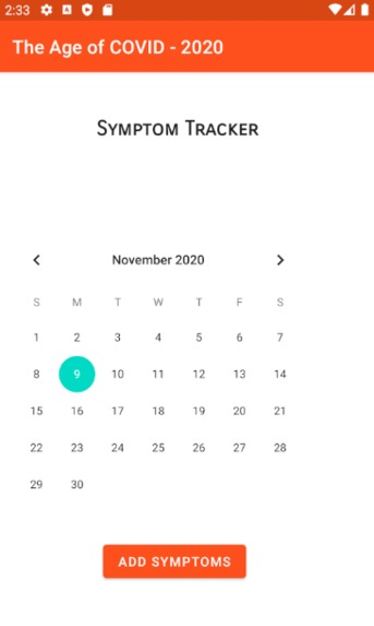 Symptom Tracker – screenshot 1