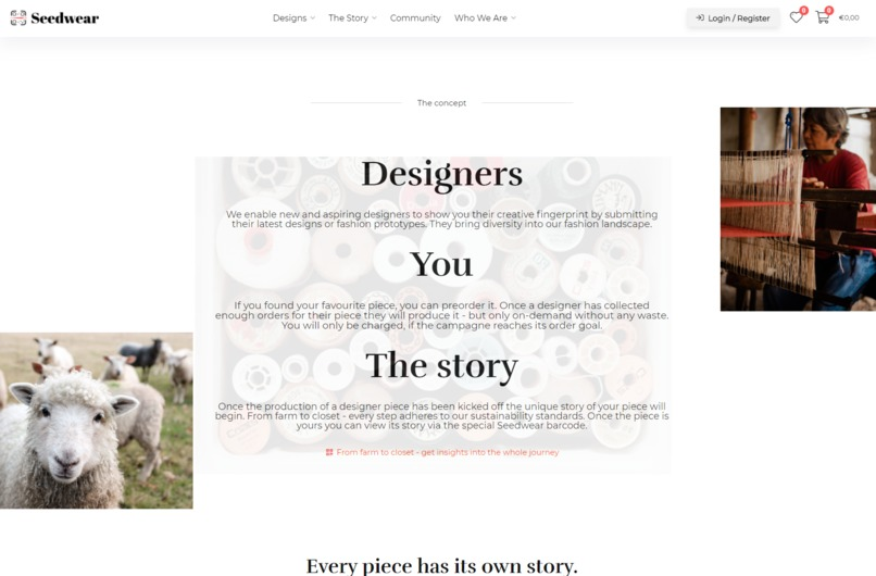 Seedwear - the story you wear – screenshot 1