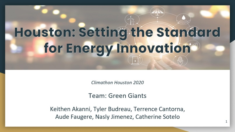 Houston: Setting the Standard  for Energy Innovation – screenshot 1