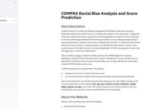 Racial Bias and Score Prediction of COMPAS Score
