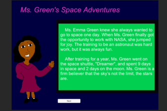 Ms. Green's Space Adventures!