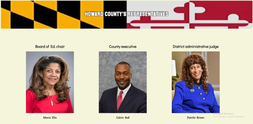 Howard County Representatives – screenshot 3