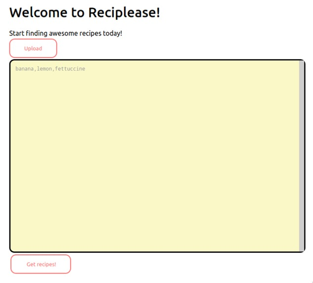 Reciplease – screenshot 2