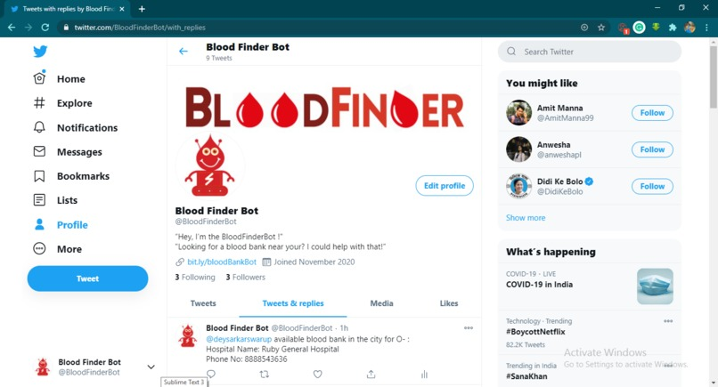 Blood Finder Bot – screenshot 2