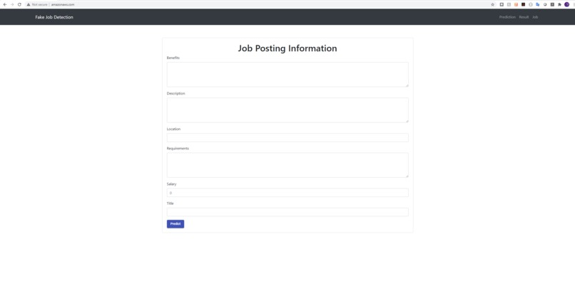 Fake Job Detection – screenshot 1