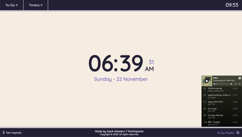 Clock Tab – screenshot 2
