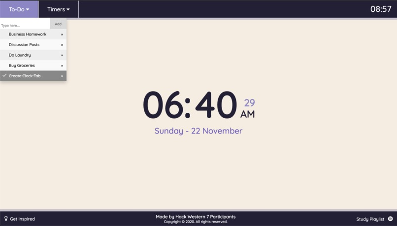 Clock Tab – screenshot 3