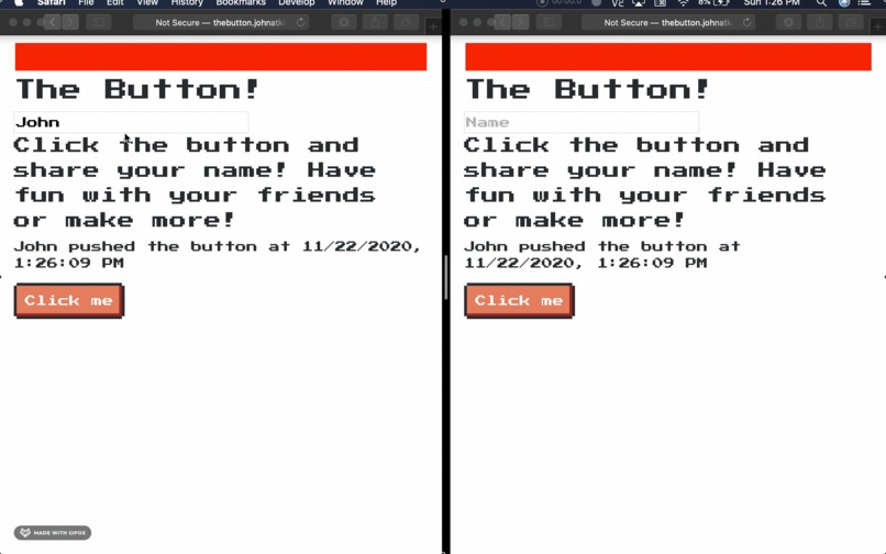 The Button – screenshot 1
