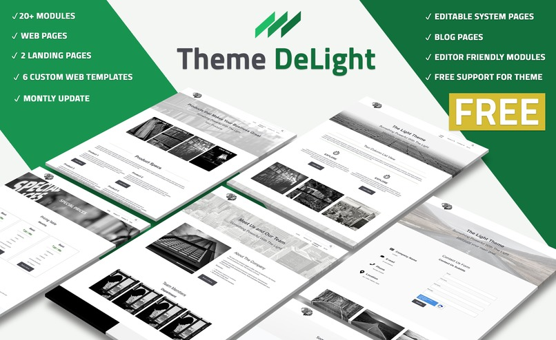 Theme DeLight – screenshot 1