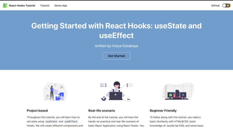 Getting Started with React Hooks: useState and useEffect – screenshot 3