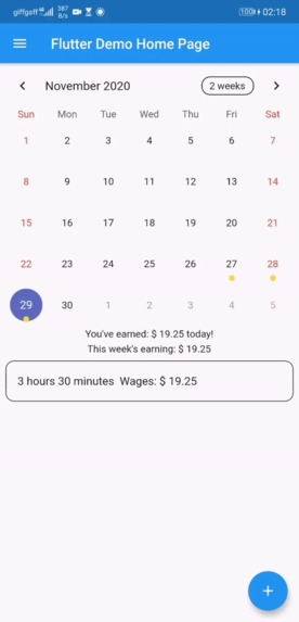 sched – screenshot 1