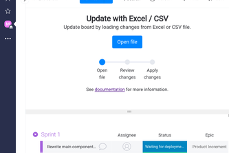 Update with Excel / CSV