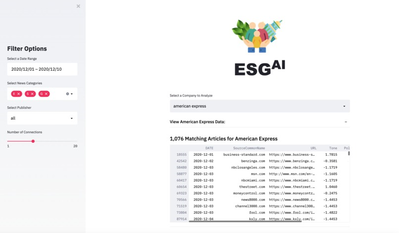ESG AI – screenshot 2