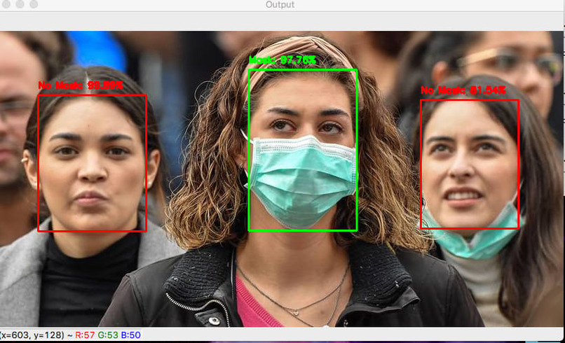 Face mask detection  – screenshot 1