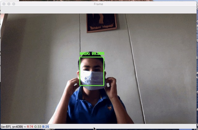 Face mask detection  – screenshot 2