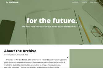 for the future. Archive