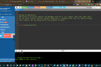 Hello world with a new language
