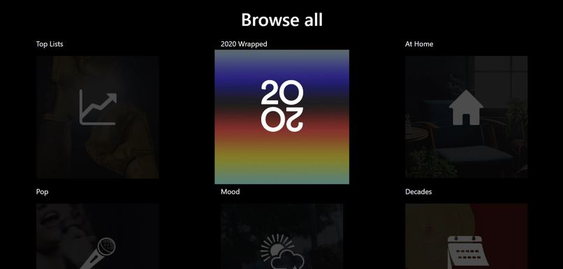 Spotify API – screenshot 1