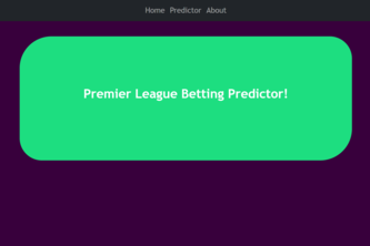 Premier League Sports Predictor