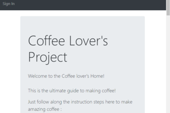 Coffee Lover's Home