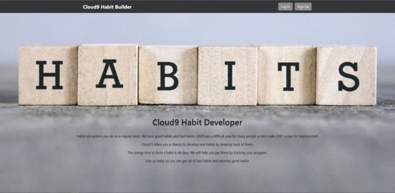 Habbit-app – screenshot 1