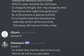 Shakespeare Bot