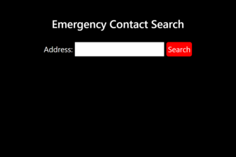 Emergency Contact Search