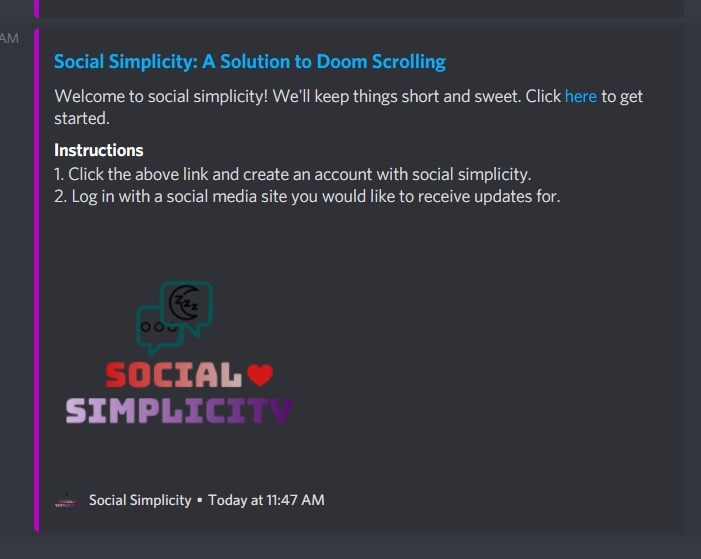 Social Simplicity – screenshot 2