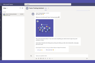 Microsoft Teams Training Assistant