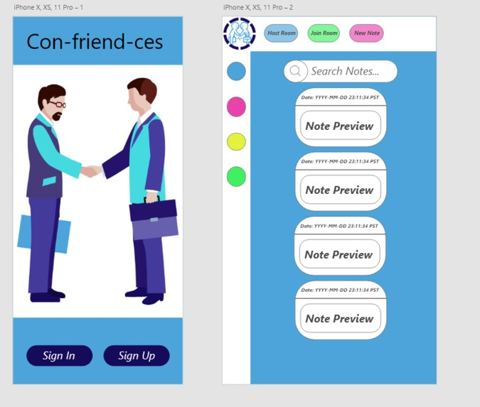 Confriendces – screenshot 1