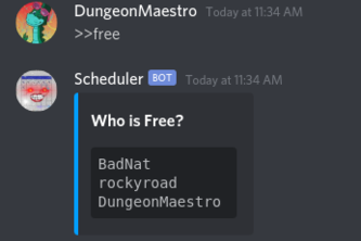 Discord Schedule Manager