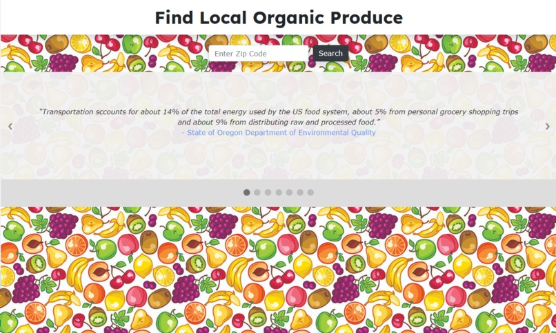 Find Local Organic Produce – screenshot 1