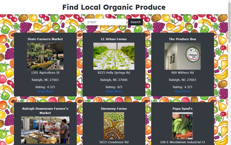 Find Local Organic Produce – screenshot 2