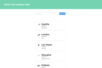 Weather App with Flask