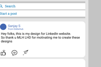 LinkedIn web new design with Figma