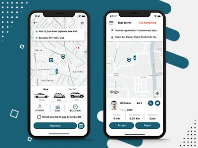 Eber - On Demand Taxi and Ground Transportation App – screenshot 1