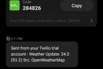 Weather Updates on SMS