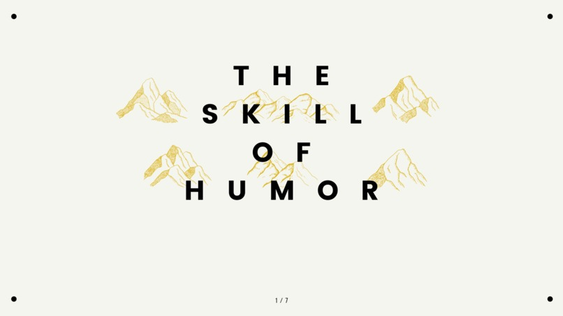 The Skill of Humor – screenshot 1