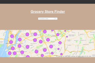 Grocery Store Finder