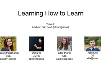 Team 7: Learning How to Learn