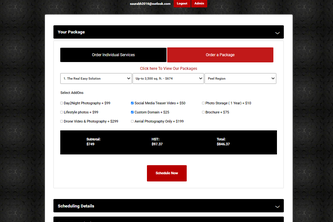 realspacemedia Booking system