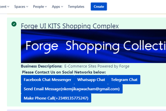 Forge E-Commerce on Confluence