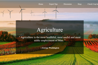 AgroTech - A WebApp to help famrers.