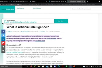 Learn about Artificial Intelligence